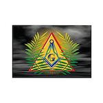 Masonic Acacia and dark sky Rectangle Magnet