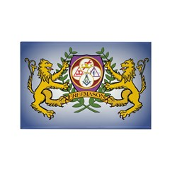 Masonic York Rite with Lions Rectangle Magnet