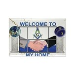 Welcome to a Masons home Rectangle Magnet