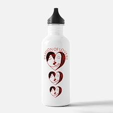Lovers faces darkx3 Water Bottle