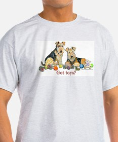 Welsh Terrier Toys Ash Grey T-Shirt