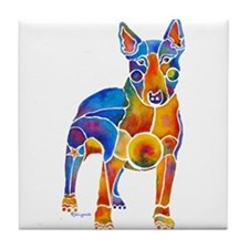 English Bull Terrier Art Gifts Tile Coaster