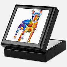 English Bull Terrier Art Gifts Keepsake Box