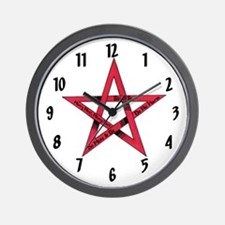 """Wiccan Messages"" Wall Clock"