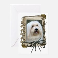Stone_Paws_Coton_de_Tulear Greeting Card