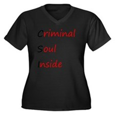 csi.gif Women's Plus Size Dark V-Neck T-Shirt