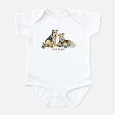 Welsh Terrier Toys Infant Bodysuit
