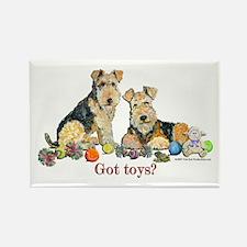 Welsh Terrier Toys Rectangle Magnet (10 pack)