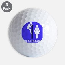 Restroom Blue Golf Ball