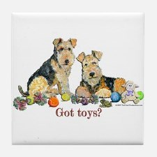 Welsh Terrier Toys Tile Coaster