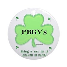 PBGV Heaven Ornament (Round)