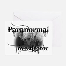 paranormal investigator light Greeting Card