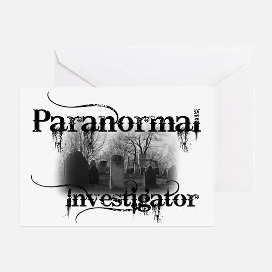 paranormal investigator light Greeting Card
