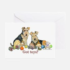 Welsh Terrier Toys Greeting Cards (Pk of 10)