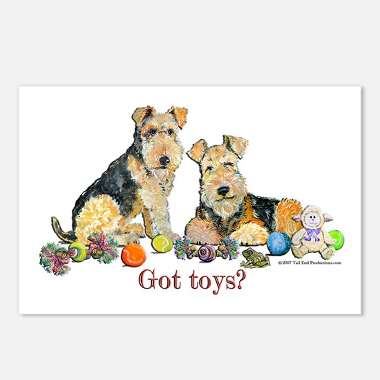 Welsh Terrier Toys Postcards (Package of 8)