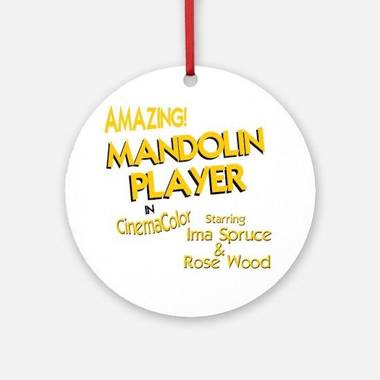 funny mandolin player mandolins Round Ornament