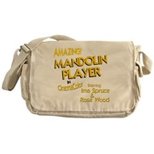 funny mandolin player mandolins Messenger Bag