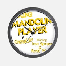 funny mandolin player mandolins Wall Clock