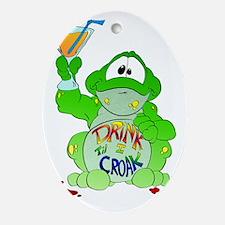 frogcroak Oval Ornament