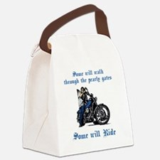 Some will walk some will ride_dk Canvas Lunch Bag