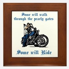 Some will walk some will ride_dk Framed Tile