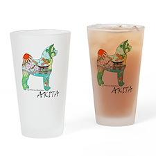 Akita national treasure color nb PN Drinking Glass