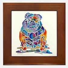 English Bulldogs Framed Tile