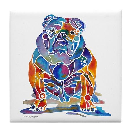 English Bulldogs Tile Coaster