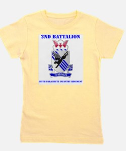 DUI- 2-505TH PIR WITH TEXT Girl's Tee
