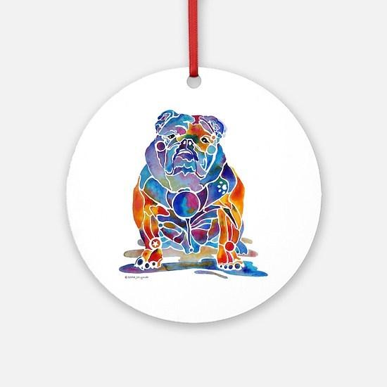 English Bulldogs Ornament (Round)