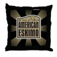American Eskimo Dog of Choice Throw Pillow