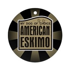 American Eskimo Dog of Choice Ornament (Round)