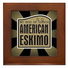 American Eskimo Dog of Choice Framed Tile