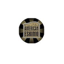 American Eskimo Dog of Choice Mini Button