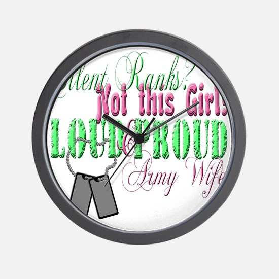 l andf p army Wall Clock