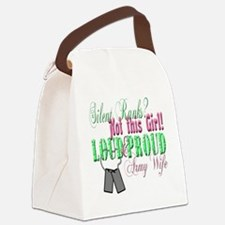 l andf p army Canvas Lunch Bag