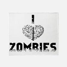 Heart Zombies Throw Blanket