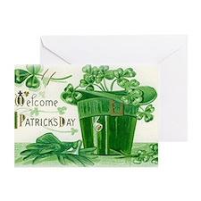 Vintage Green St Patricks Day Shamro Greeting Card