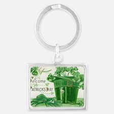 Vintage Green St Patricks Day S Landscape Keychain