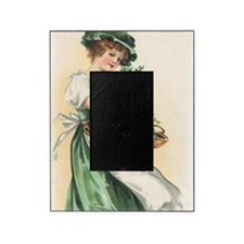 woman-with-basket-of-shamrocks Picture Frame