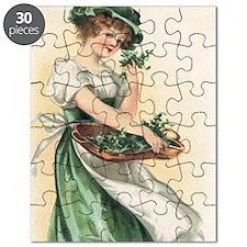 woman-with-basket-of-shamrocks Puzzle