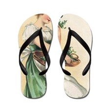woman-with-basket-of-shamrocks Flip Flops