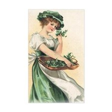 woman-with-basket-of-shamrocks Decal