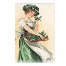 woman-with-basket-of-sham Postcards (Package of 8)