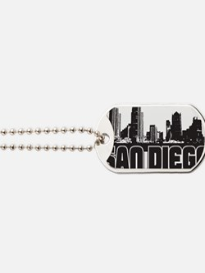 San Diego Skyline Dog Tags