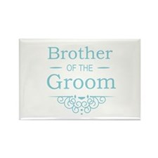 Brother of the Groom blue Magnets