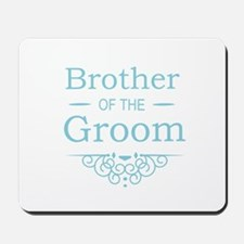 Brother of the Groom blue Mousepad