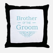 Brother of the Groom blue Throw Pillow
