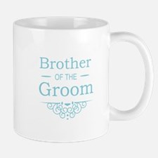 Brother of the Groom blue Mugs
