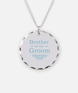 Brother of the Groom blue Necklace